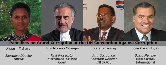 GOPAC Panellists at the UN Convention Against Corruption