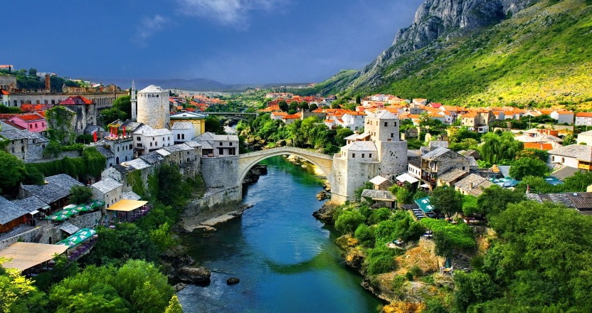 The new Mostar Bridge
