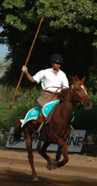 Practice run at the International Tent Pegging Championships
