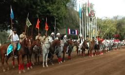 Athletes' Parade at the International Tent Pegging Championships